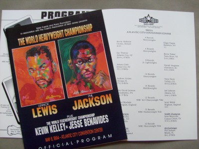Lennox Lewis vs Phil Jackson WBC Heavyweight World Title Official Onsite Programme Plus Official Bout Booklet Also Featuring Arturo Gatti