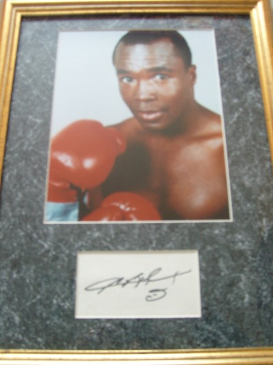 Sugar Ray Leonard SIGNED Index Card