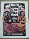 Lennox Lewis vs Tony Tucker WBC Heavyweight World Title Official Onsite Programme Also Featuring Julio Cesar Chavez vs Terrence Alli