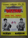 Terry Downes vs Sugar Ray Robinson Official Onsite Programme