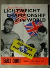 Joe Brown vs Dave Charnley II World Lightweight Title Official Onsite Programme