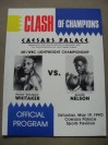 Pernell Whitaker vs Azumah Nelson WBC And IBF Lightweight World Title Official Onsite Programme