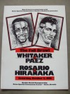 Pernell Whitaker vs Jorge Paez WBC And WBA Plus IBF Lightweight World Title Official Onsite Programme Also Featuring Rosario vs Hiranaka