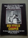 Evander Holyfield vs Bert Cooper WBA And IBF Heavyweight World Title Official Onsite Programme Also Featuring Lennox Lewis vs Tyrell Biggs