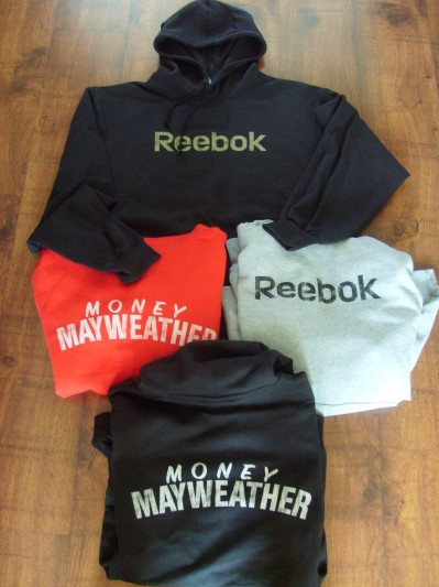Team Money Mayweather Official Merchandise Reebok Sweat Top Hoodie Extra Large