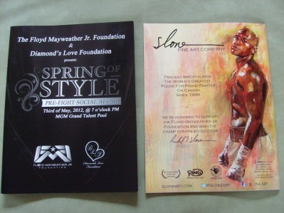 Floyd Mayweather Jr Foundation Pre Fight Fund Raising Event Official Programme