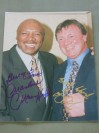 Marvelous Marvin Hagler And Tony Sibson DUAL SIGNED Reunion Photo 29 Years After Their 1983 WBC And WBA World Middleweight Title Fight