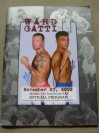Arturo Gatti vs Micky Ward DUAL SIGNED Official Onsite Programme From Their 2nd Fight Of One Of The Greatest And Most Inspirational Boxing Trilogies