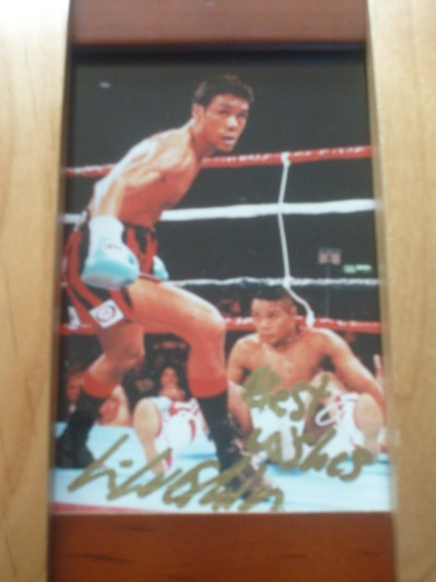 Kevin Lueshing Former British Welterweight Champion SIGNED Promotional Photo
