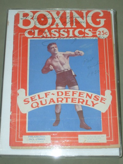 Philadelphia Jack O Brien Who Won The Light Heavyweight World Title With A TKO Over Bob Fitzsimmons In 1905 SIGNED And INSCIRBED And DATED Front Cover