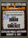 SCARCE Roberto Duran vs Nino Gonzalez Light Middleweight Contest Official Onsite Programme SIGNED By Roberto Duran