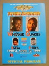 Pernell Whitaker vs Wilfredo Rivera I And Ike Quartey vs Vince Phillips Official Onsite Programme