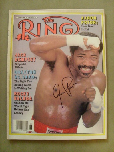 Aaron Pryor Former Lightweight World Champion And Hall Of Famer SIGNED Ring Magazine