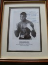 Frank Bruno Former World Heavyweight Champion SIGNED Early Career Promotional Photo