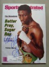 Thomas Hearns Former 6 Weight World Champion And Hall Of Famer SIGNED Sports Illustrated Magazine