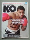 Tim Witherspoon Former WBC And WBA Heavyweight World Champion SIGNED And INSCRIBED KO Magazine
