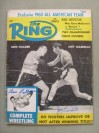 Gene Fullmer And Joey Giardello DUAL SIGNED Ring Magazine Front Cover Action Shot Photo From Their 1960 World Middleweight Title Fight