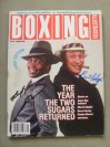 Two Of The Greatest SUGARS Ray Leonard And Legendary Boxing Historian Bert DUAL SIGNED Boxing Illustrated Magazine