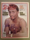 Thomas Hearns AKA Hitman Former 6 Weight World Champion And Hall Of Famer SIGNED Ring Magazine