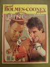 Larry Holmes And Gerry Cooney DUAL SIGNED WBC Heavyweight World Title Fight Ring Magazine Special