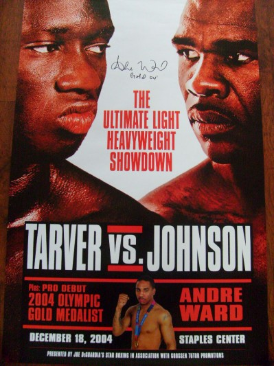 Andre Ward Undefeated 2 Weight World Champion And 2004 Olympic Gold Medallist SIGNED And INSCRIBED Pro Debut Onsite Poster