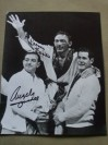 Carmen Basilio And Angelo Dundee Hall Of Fame Fighter And Trainer DUAL SIGNED After Fight Victory Celebration Photo