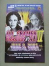 Laila Ali vs Jacqui Frazier IV Advertisement Fight Postcard