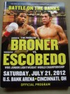 Adrien Broner vs Vicente Escobedo WBO Super Featherweight World Title Official Onsite Programme SIGNED By Adrien Broner