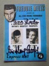 Henry Cooper vs Brian London I DUAL SIGNED Programme Career History Collectors Card