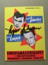 Henry Cooper vs Ingemar Johansson European Heavyweight Title Programme Career History Collectors Card SIGNED By Ingemar Johansson