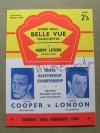 Henry Cooper v Brian London 3 British And Commonwealth Also European Heavyweight Title Programme Career History Collectors Card SIGNED By Brian London