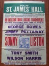 Sonny Liston Whilst Heavyweight World Champion RARE 1963 Exhibition Official Onsite Poster From Newcastle Upon Tyne England