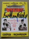 Henry Cooper vs Dick Richardson II British And Commonwealth Heavyweight Title Programme Career History Collectors Card SIGNED By Sir Henry Cooper