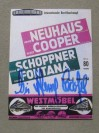 Henry Cooper vs Heinz Neuhaus Programme Career History Collectors Card SIGNED By Sir Henry Cooper