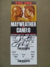 Floyd Mayweather Jr vs Saul Canelo Alvarez WBC And WBA Light Middleweight World Title Official Full Onsite Ticket SIGNED By Floyd Mayweather Jr