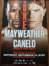 Floyd Mayweather Jr vs Saul Canelo Alvarez WBC And WBA Light Middleweight World Title Official Showtime PPV Poster