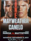 Floyd Mayweather Jr vs Saul Canelo Alvarez Also Featuring Danny Garcia vs Lucas Matthysse Official Onsite Poster