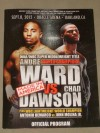 Andre Ward vs Chad Dawson WBC And WBA Super Middleweight World Title Official Onsite Programme SIGNED By Andre Ward