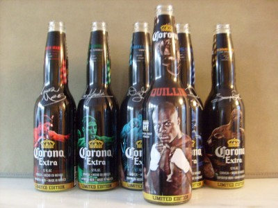 Peter Quillin LIMITED EDITION Series Corona Beer Bottle Sponsored By Golden Boy Promotions Containing Facsimile Signature