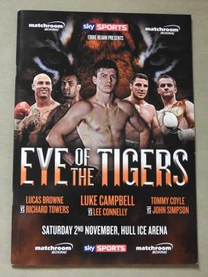 Luke Campbell London 2012 Olympic Gold Medallist SIGNED 3rd Pro Fight Official Onsite Programme Against Lee Connelly