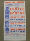 Orginial Poster Handbill Featuring BRITISH LEGENDS Conteh And Clark Plus Stracey And Minter