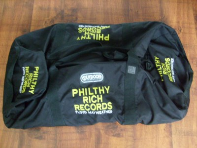 Floyd Mayweather Jr Early Career Philthy Rich Records Large Canvas Equipment And Travel Bag