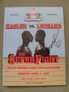 Marvin Hagler vs Sugar Ray Leonard WBC Middleweight World Title Official Onsite Programme SIGNED By Sugar Ray Leonard