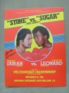 Roberto Duran vs Sugar Ray Leonard II WBC Welterweight World Title Official Onsite Programme SIGNED By Roberto Duran