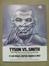 Mike Tyson vs James Smith WBC And WBA Heavyweight World Title Official Onsite Programme SIGNED By Tyson