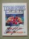 Mike Tyson vs Michael Spinks WBC And WBA Plus IBF Heavyweight World Title Official Onsite Programme SIGNED By Tyson