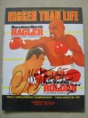 Marvin Hagler vs Juan Domingo Roldan World Middleweight Championship Official Onsite Programme SIGNED And INSCRIBED Plus DATED By Hagler