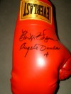 Legendary Trainer Angelo Dundee and Boxing Historian Bert Sugar DUAL SIGNED Everlast Glove