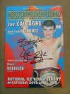 Joe Calzaghe v Juan C Gimenez WBO Super Middleweight World Title Official Onsite Programme SIGNED With RARE FULL SIGNATURE And INSCRIBED By Calzaghe