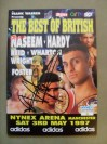Naseem Hamed vs Billy Hardy IBF And WBO Featherweight World Title Official Onsite Programme SIGNED By Prince Naseem Hamed